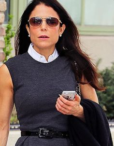 Check out Bethenny Frankel wearing our Sleeveless Classic under a belted sheath. (Picture from People Magazine) Bethenny Frankel, People Magazine, Cool Outfits, Classic, How To Wear, Pictures, Clothes, Style, Business