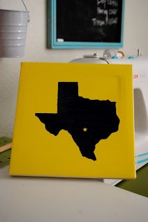 Diary of a Preppy Mom: DIY: Simple State Canvas Art