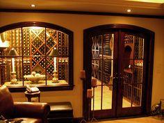 A dedicated wine room with WineRacks.com's custom racks