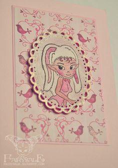 cute card in pink #easter