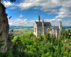 """Neuschwanstein Castle (or Schloss Neuschwanstein) means """"New Swan Stone Castle"""" and is one of the most beautiful and famous castles in Germany."""
