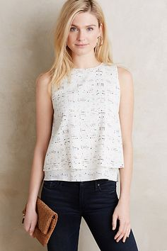 Makam Double-Layer Tank #anthropologie layers