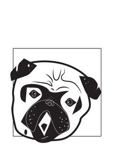 pug love by Anit Vida, via Behance