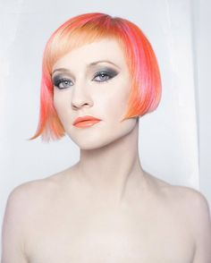 15 Citrus-Hued Hairstyles for Girls Daring to Go Orange via Brit + Co.