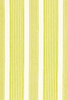 Summerville Linen Stripe Schumacher Fabric in limeade