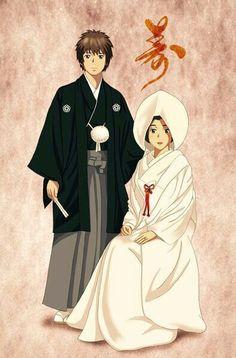 君と君のその後は。Them getting married-Kimi no Na wa, 君の名は Otaku Anime, Manga Anime, Anime Art, Kimi No Na Wa Wallpaper, Name Wallpaper, Mitsuha And Taki, Anime Couples, Cute Couples, Chibi