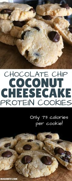 If you'd like to eat 3 cookies for only 219 calories and 22 grams of carbs, you'll love this protein cookie recipe. Even with over 5 grams of protein per cookie, they are perfectly soft and crumbly just like real cookies.  via @masonfitdotcom