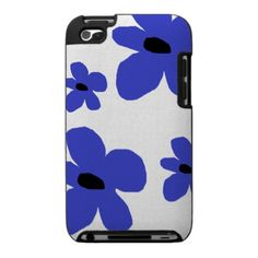 I-Pod Touch hard cover case blue flower