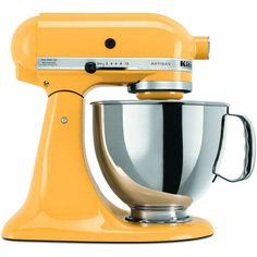custom kitchenaid mixers | KitchenAid Artisan Stand Mixer, Buttercup Yellow 5 Quart