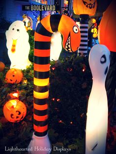 Repurpose candy cane into a Nightmare Before Christmas inspired snake.
