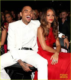 Rihanna & Chris Brown - Grammys 2013 Seatmates! (Pics)