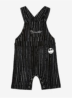 Disney The Nightmare Before Christmas Jack Skellington Pinstripe Infant Overall - BoxLunch ExclusiveDisney The Nightmare Before Christmas Jack Skellington Pinstripe Infant Overall - BoxLunch Exclusive, BLACK Cute Babies, Baby Kids, Baby Boy, Babies Stuff, Carters Baby, Toddler Girls, Kid Stuff, Goth Baby, Christmas Baby