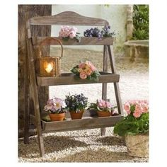 Wooden plant stand: love it!