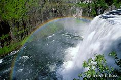 Rainbow at Upper Mesa Falls -- Jenny Ross Photo