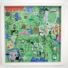 Arte em papel Assemblage, moldura respeitando os padrões museológicos de montagem. FoamBord ph neutro. www.loroverz.com #art #loroverz #parte