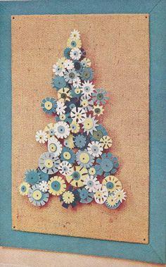 Felt Flower tree from the 1966 BHG Treasury of Christmas Ideas