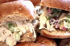 just made this chicken salad for sandwiches later. pretty good! // red headed hostess