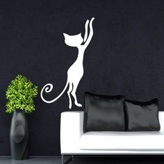 WALL VINYL STICKER DECALS ART MURAL DECOR BABY ANIMALS PUSSY CAT KITTEN Kj314 #CAT #MuralArtDecals
