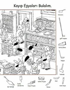 Gizli nesneyi bul Printable Preschool Worksheets, Alphabet Worksheets, Alphabet Activities, Worksheets For Kids, Teaching Activities, Preschool Ideas, Free Printables, Learning English For Kids, English Lessons For Kids