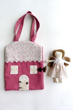 Felt Quiet Book Handmade Doll House Book Travel and by thebuslbarn