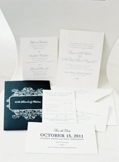 Wedding Invitations - one color on white