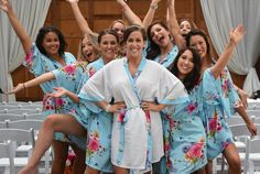 the best bridesmaid gifts cotton kimono robe by ForBride on Etsy