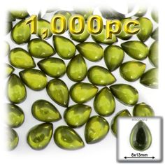 The Crafts Outlet 1000Piece Acrylic Flatback Cabochons Teardrop Beads 8 by 13mm Olive Green >>> Be sure to check out this awesome product from Amazon.com