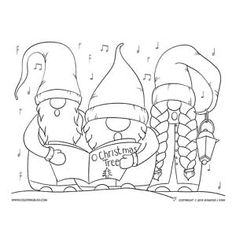 These jolly gnomes are the latest drawn by artist Jennifer Stay. The perfect adult coloring page and a fun way to celebrate Christmas. Do you love these charming Swedish Gnomes? Come see all the fun art created in this style and ready for you to color. Abstract Coloring Pages, Cool Coloring Pages, Flower Coloring Pages, Printable Coloring Pages, Coloring Pages For Kids, Coloring Books, Mandala Coloring, Coloring Sheets, Christmas Artwork