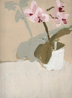 bblacha:  Right handed Orchid by lucasrblanco on Flickr. 12 x 9 Acrylic on board 2009 Lucas Blanco