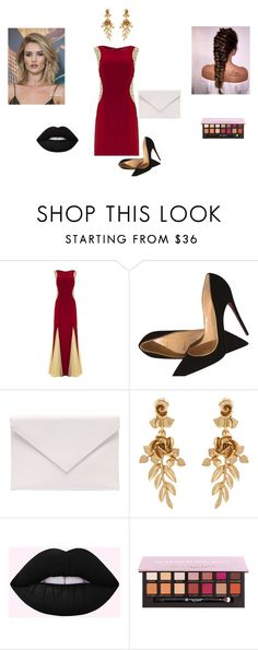 """""""#..."""" by bryannaderosa ❤ liked on Polyvore featuring Christian Louboutin, Verali, Oscar de la Renta and Whiteley"""