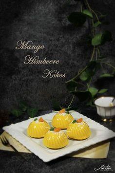 Mango-Himbeer-Kokostörtchen