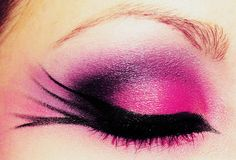 Pink, Purple & Black Eye Makeup