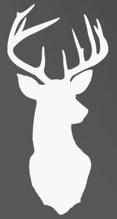 Deer Head Decal Sticker Free Shipping by SoutherlyDesigns on Etsy