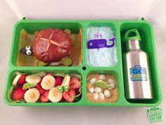 Lunchbox Dad: Simple Summer Turtle Slider Burger Lunch.  This lunch was based on an actual hilarious news story.  Check out lunchboxdad.com for the story and recipe! #backtoschool #easykidslunches #kidslunches #kidsmeals #gogreen