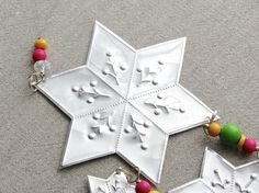 Metal Star Garland Mexican Tin Art Eclectic Decor by FoilingStar