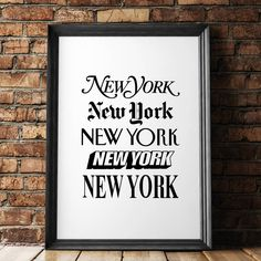 New York New York http://www.notonthehighstreet.com/themotivatedtype/product/new-york-new-york-print Limited edition, order now!