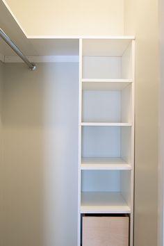 Building a custom closet and DIY door organizer building-a-custom-closet-shelf Building a custom clo Building Shelves In Closet, Diy Closet Shelves, Build A Closet, Closet Organization, Wardrobe Storage, Wardrobe Closet, Small Closet Storage, Organizing, Ikea Closet