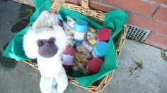 Monkey party favours. Barrel of monkeys