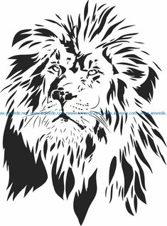 Lion King file cdr and dxf free vector download for laser engraving machines – Download Free Vector Lion Stencil, Animal Stencil, Stencil Art, Custom Fake Tattoos, Lion Silhouette, Wings Sketch, Lion Design, Tattoo Stencils, Flash Art