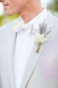 lavender boutonniere - lavender wedding - brides of adelaide magazine