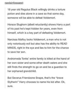 Hey don't hate on harry i understand his decision but i also agree that snape was def not the most amazing bravest wonderful slytherin