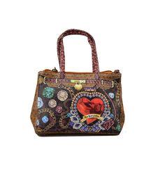 Flot micro taske med New York Fashion motiv på - med lang rem