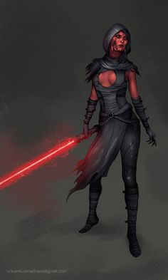Commission: Sith Lady II by VincentiusMatthew on DeviantArt Star Wars Characters Pictures, Star Wars Images, Female Characters, Star Wars Sith, Star Wars Rpg, Clone Wars, Dark Fantasy, Female Sith, Star Wars Canon