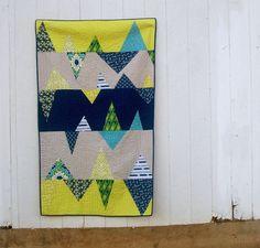 St. Louis Folk Victorian // Mountains Managed Quilt // Kristy Daum #modern #quilting