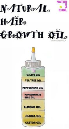 Natural hair growth oil mixture
