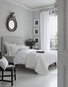 Grey and white bedrooms!