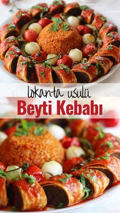 Fast Food Restaurant Beyti Kebab - Leckere Rezepte, You are in the right place about Fast Recipes dinner Here we of Potato Recipes, Meat Recipes, Dinner Recipes, Healthy Comfort Food, Healthy Eating, Zucchini Pommes, Turkish Recipes, Ethnic Recipes, Vegan Fast Food