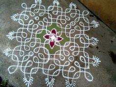 15 dots sikku kolam || Contest kolam – Kolams of India