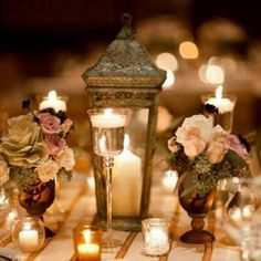 I like the idea of little candles and flowers an even that lantern :)
