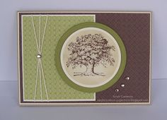 Stampin Up Card, Lovely as a Tree stamp set, masculine b'day, etc